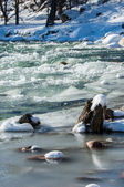 River ice. river in winter — 图库照片