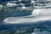 River ice. river in winter — Stockfoto