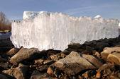 Rio de gelo — Foto Stock