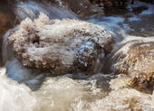 Ice on the river — Stockfoto