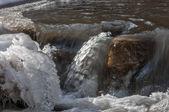 Gelo no rio — Foto Stock