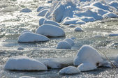 River ice. river in winter — Stockfoto
