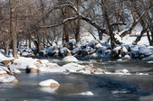 River ice. river in winter — Foto de Stock