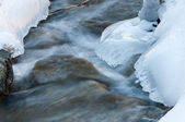 在河上的冰 — 图库照片