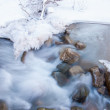 River ice. river in winter — Stock Photo