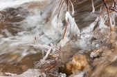 Ice on the river — Stock Photo