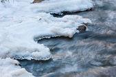 River ice. river in winter — Stock Photo