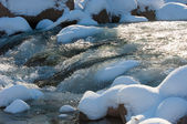 Fluss-Eis. Fluss im winter — Stockfoto