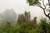 Mysterious Mountains Zhangjiajie — Stock Photo