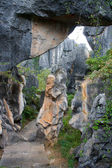 Shi Lin Stone forest national park. Yunnan. China. — Stock Photo