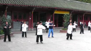 In Taoist temple. Chengdu. Sichuan. China. — Stock Video