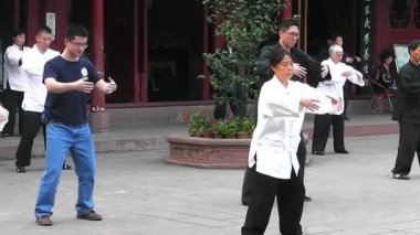In Taoist temple. Chengdu. Sichuan. China. — Stock Video