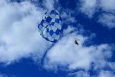 Summer sport - parasailing and boat , punta cana — Stock Photo