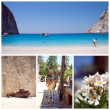 Zakynthos Island Collage, Greece, Zante, Zakintos — Stock Photo