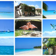 Stock Photo: Tropical collage, DominicRepublic.