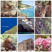 Zakynthos Island Collage, Greece, Zante, Zakintos — Stock Photo