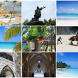 Tropical collage, Dominican Republic. — Stock Photo