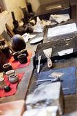 Rembrandt's art studio — Stock Photo