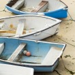 Small Boats on the beach — Stock Photo