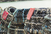 Lobster Pots Traps — Stock Photo