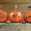 Trick or treat pumpkins — Stock Photo #13304476