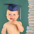 Happy baby boy graduate. — Stock Photo
