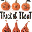 Trick or treat pumpkins — Stockfoto
