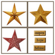 Christmas stars - Stock Photo