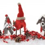 Christmas birds — Stock Photo