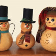 Vintage snowmen - Stock Photo