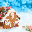 Christmas gingerbread house. — Stock Photo