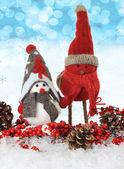 Weihnachten-vögel — Stockfoto