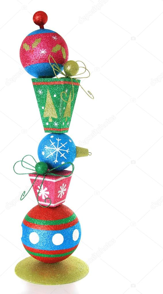 Christmas presents ornament isolated on white.   Zdjcie stockowe #14753037