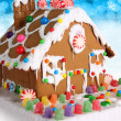 Gingerbread house — 图库照片