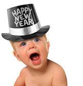 το μωρό ευτυχισμένο το νέο έτος — Φωτογραφία Αρχείου