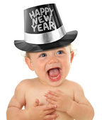 Gelukkig nieuwjaar baby — Stockfoto