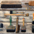 Stock Photo: Paint brushes collection