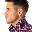 Attractive young man profile - Stock Photo