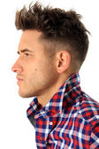 Attractive young man profile — Stock Photo