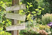 Garden sign. — Stock Photo