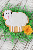 Wielkanocny baranek cookie — Zdjęcie stockowe
