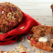 Cranberry bran muffin — Stock Photo #22273273