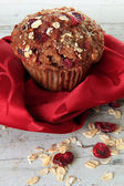 Kızılcık kepekli muffin — Stok fotoğraf