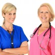 Stock Photo: Two female nurses