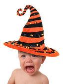 Llanto de un bebé halloween — Foto de Stock