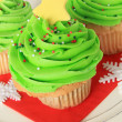 Christmas tree cupcake — Stock Photo #35834019