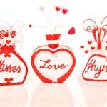 Valentines kisses, love, hugs — Stock Photo
