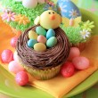 Easter egg cupcakes — Stock Photo