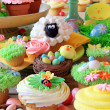 Easter cupcakes and Easter eggs — Stock Photo #42009011