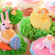 Easter bunny cupcake — Stock Photo #43447079
